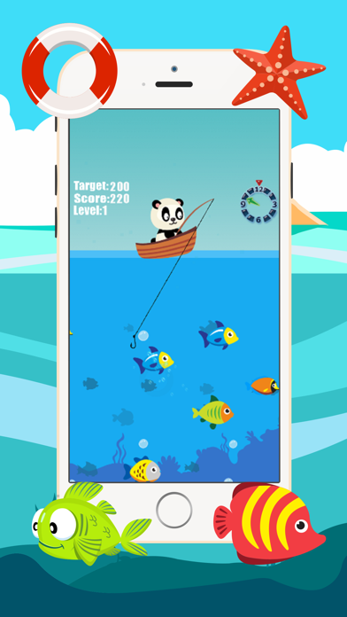 Panda fishing game for children age 2-5 screenshot two
