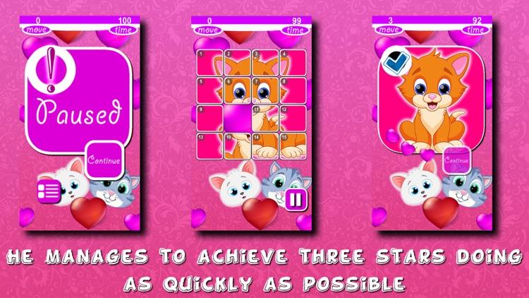 Kitty Puzzles Slide screenshot-3