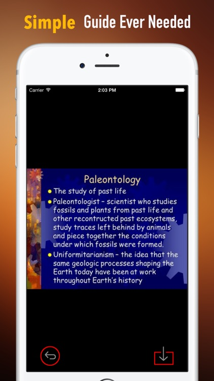 Paleontology Glossary: Cheatsheet with Study Guide screenshot-1