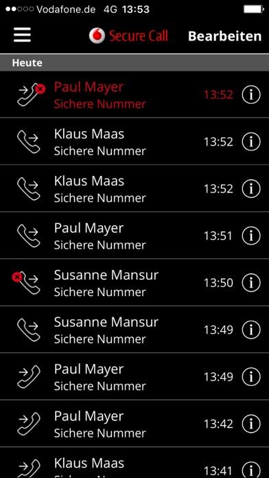 Vodafone Secure CallScreenshot von 3