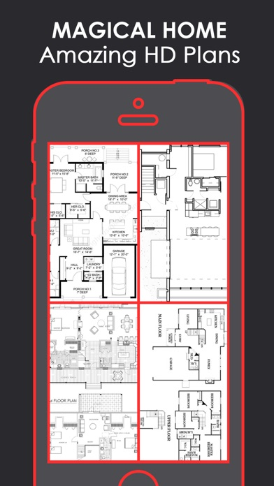 Magical Floor Plan | Layout & Home Designs catalog Screenshot