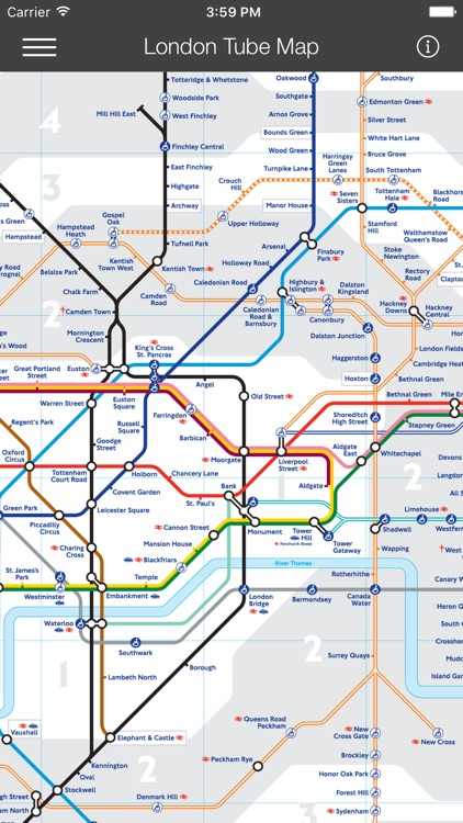 London Tube Map - LON