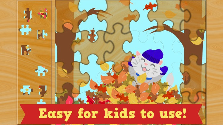 Thanksgiving Puzzles - Fall Holiday Games for Kids screenshot-3