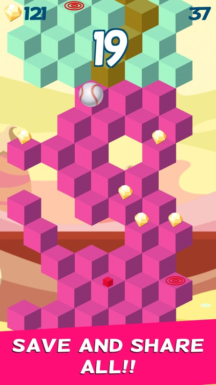 Cube Skip Ball Games - Reach up high in the sky play this endless blocks stacking free screenshot-3