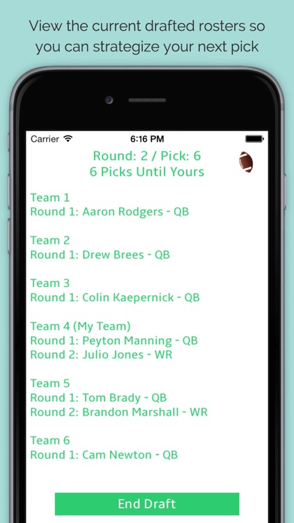 Draftalyzer - Fantasy Football Draft, Mock Draft, and Projections screenshot-3