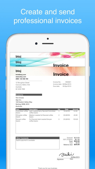 invoice maker pro - create invoices on the go free for pc free download - 11 0