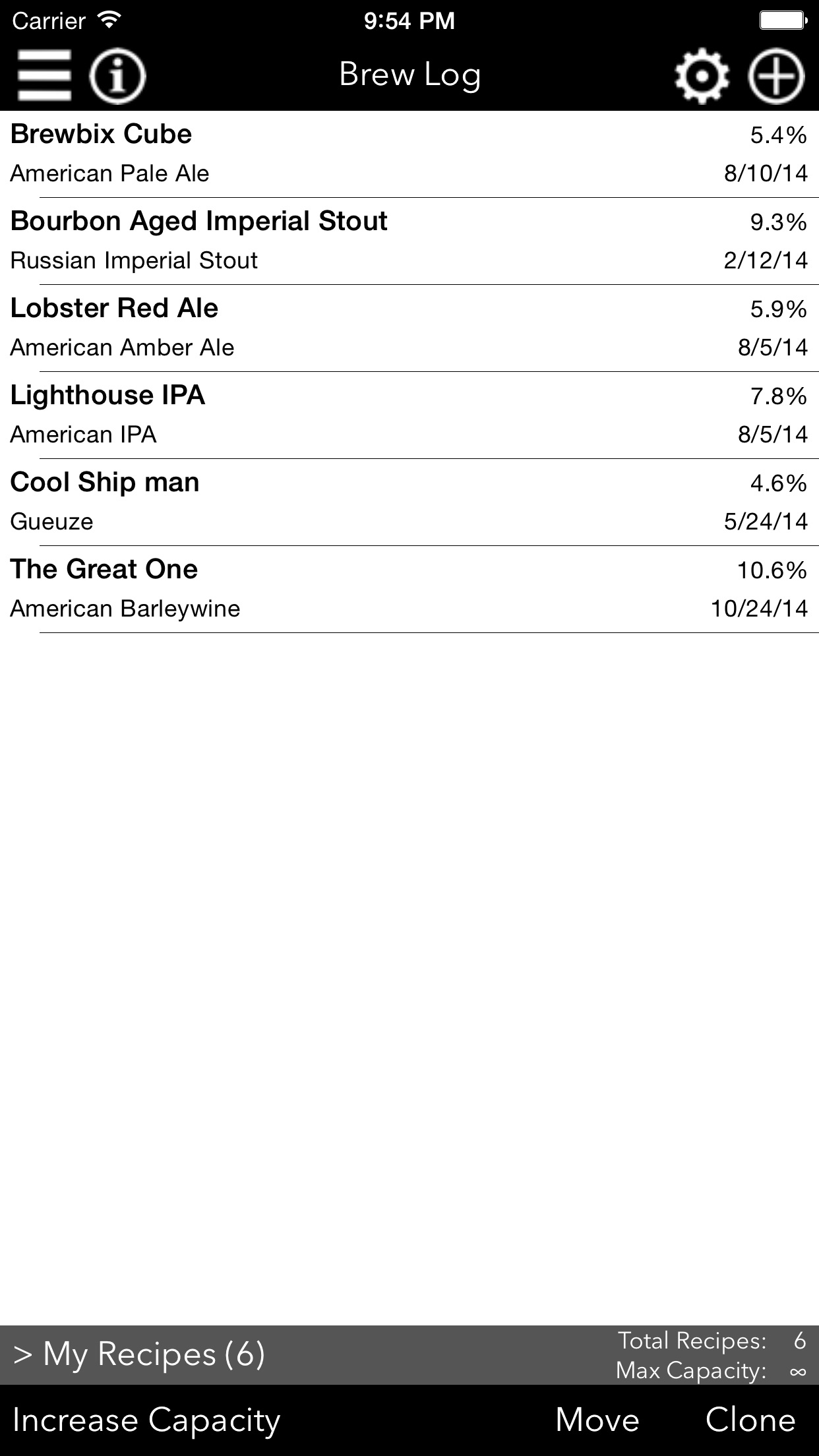 Fermenticus Brew Log - Home Brewing Calculator & Logbook Screenshot