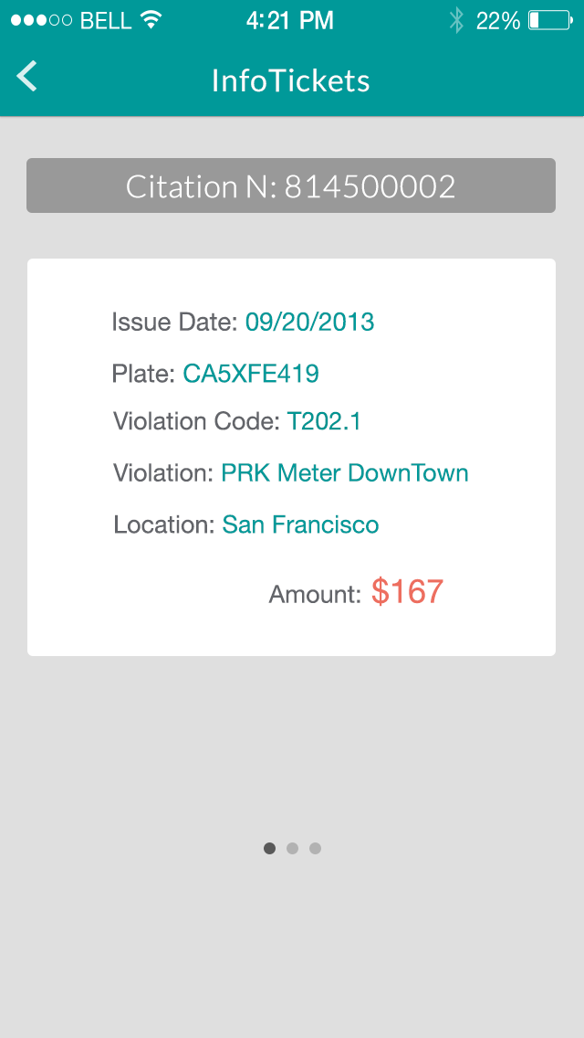 infoTickets - Find your traffic tickets with your license plate