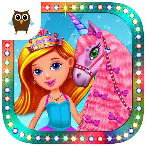 Princess Girls Club – Play Tea Party, Make a Dress for Princess, Paint the Wall and Take Care of the Unicorn