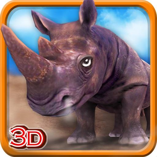 3D Rhino Simulator – Wild animal simulator and simulation game to destroy the city iOS App