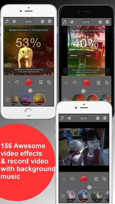 AvFX - awesome video effect, editor & background music edit
