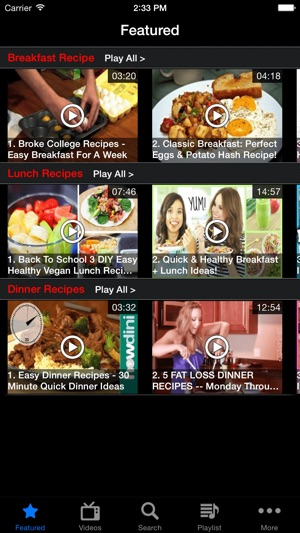 Bld recipes breakfast lunch dinner recipe videos free on the app store screenshots forumfinder Gallery