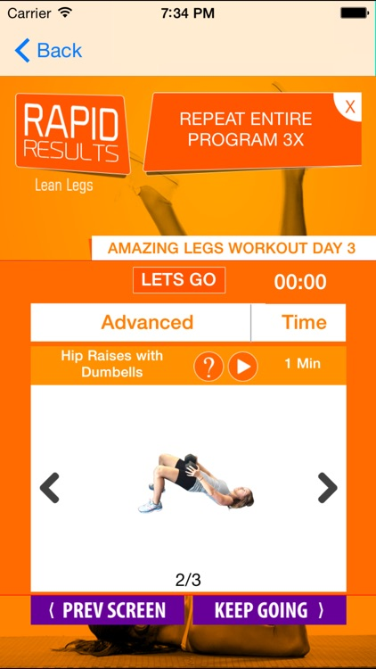 21 day leg workouts plan: fitness trainer leg workouts to get tone & sexy legs screenshot-1