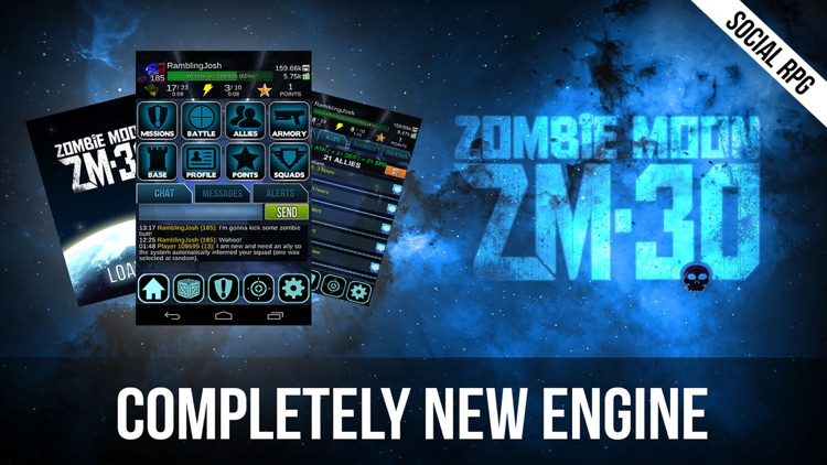 Zombie Moon – Space Marines vs Undead Zombies - Dark Future Social RPG. FREE.