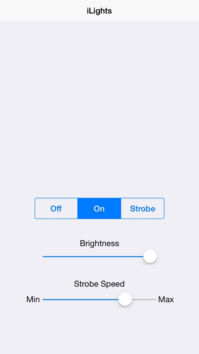 iLights Flashlight Free for iPhone 6, 5s, 5c, 5, 4s, & 4, iPad, and iPod - LED Flash Light & Strobe App Screenshot