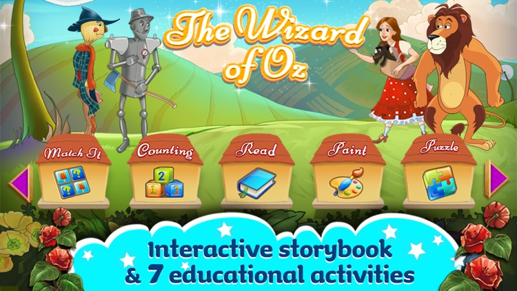 The Wizard Of Oz -  All In One Education Center & Interactive Storybook for Kids