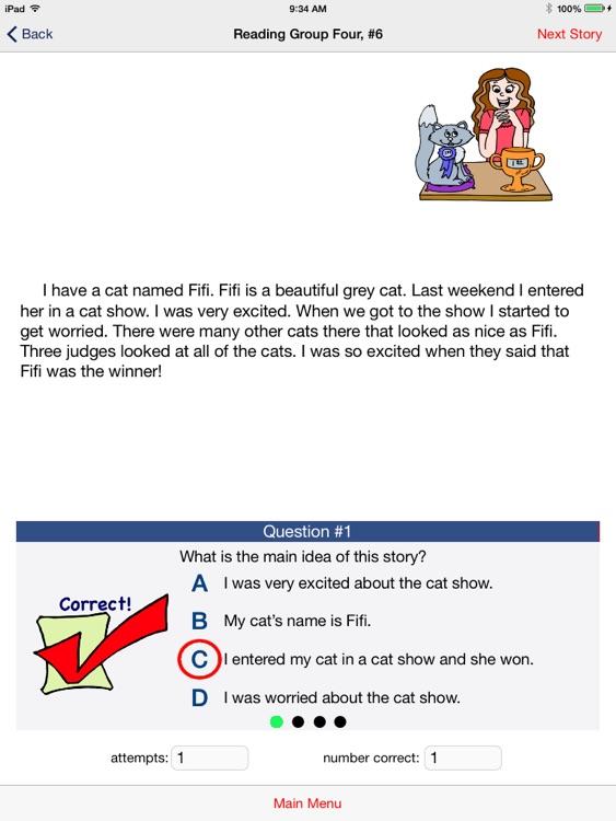 Reading Grade 3, Main Idea screenshot-3