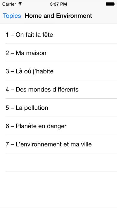 GCSE French Revision for AQA screenshot three