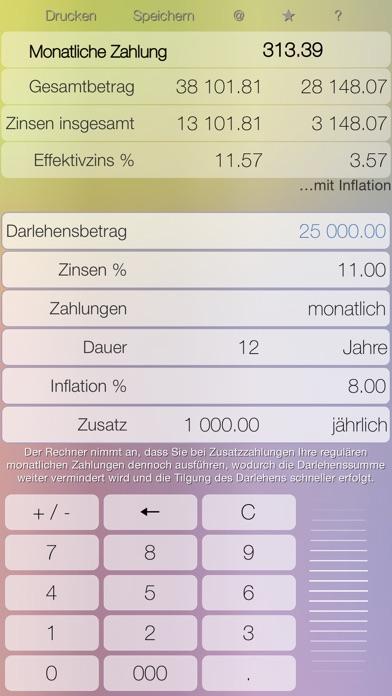 Kredit - Kreditrechner: kontrollieren Sie Ihre SchuldenScreenshot von 1