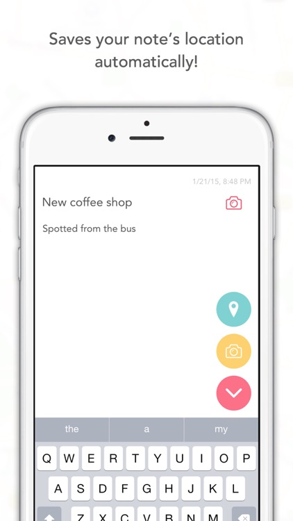 NoteSpot - Write a note, save its location!