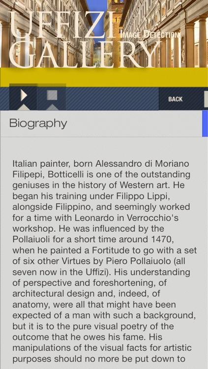 Uffizi Gallery ID Audio guide screenshot-3