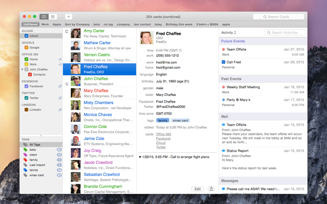 ‎BusyContacts Screenshot