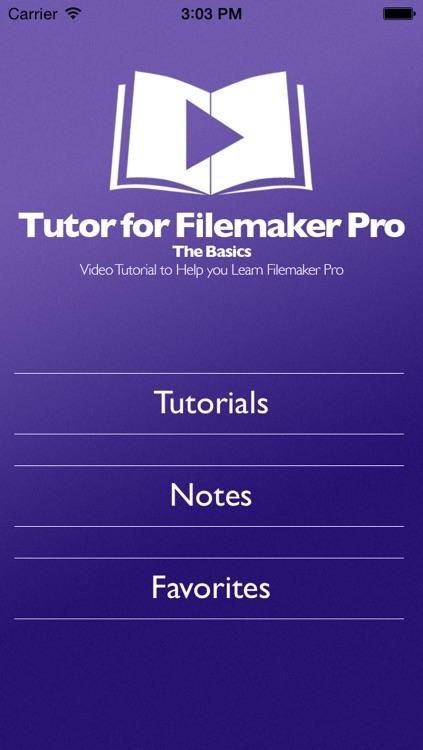 Tutor for Filemaker Pro - The Basics