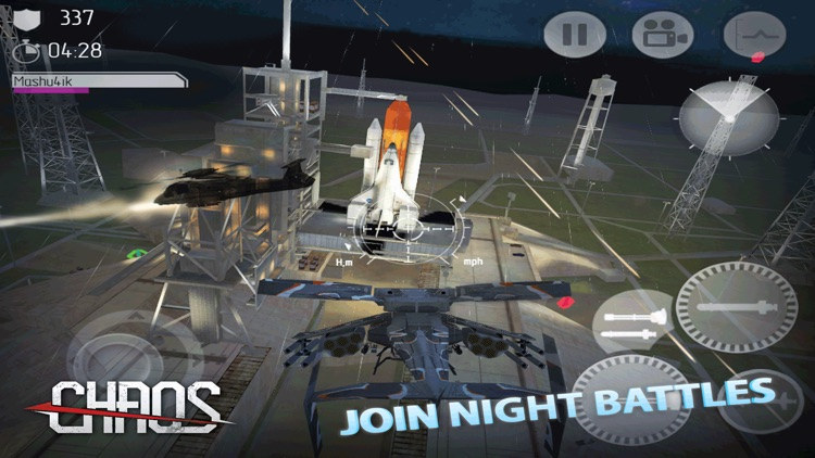 CHAOS Combat Copters -‐ #1 Multiplayer Helicopter Simulator 3D screenshot-4
