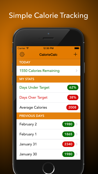 CalorieCalc - Fast & Simple Calorie Counter, Stay Fit And Healthyのおすすめ画像1
