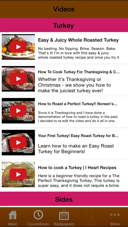 Thanksgiving All-In-One (Countdown, Wallpapers, Recipes) screenshot-3