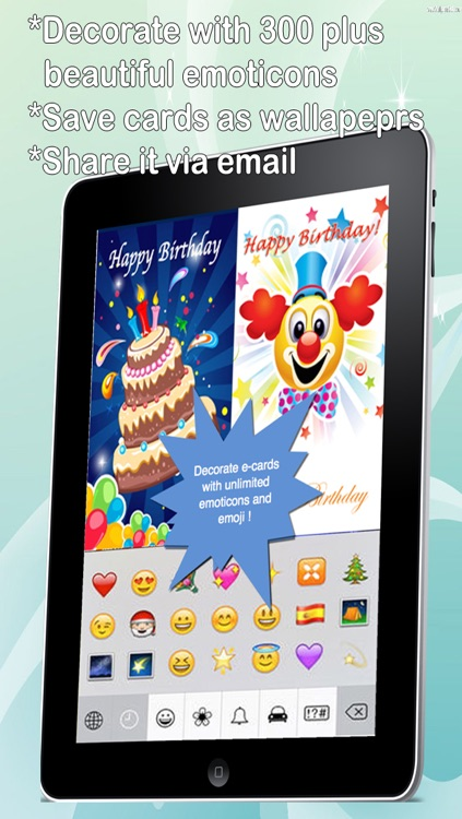 The Ultimate Happy Birthday Cards (Pro Version). Custom and Send Birthday Greetings eCard with emoji, text,voice messages and photo editor screenshot-3