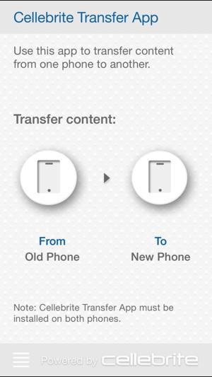 Cellebrite Transfer App on the App Store