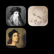 名画(文艺复兴三杰):达芬奇与米开朗基罗和拉斐尔