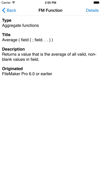 Reference for FileMaker