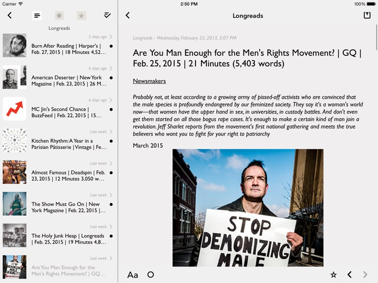 lire for iPad (Full-text RSS)
