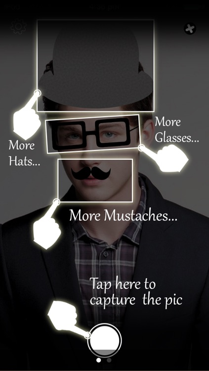 Fake Photo Booth - Make Your Funny Virtual Photo Makeover with Using Mustache, Glasses from Live Augmented App!