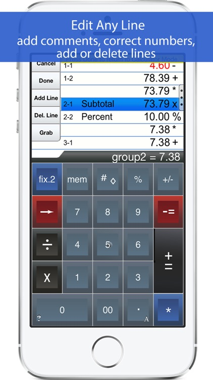 Adding Machine 10Key iPhone screenshot-1
