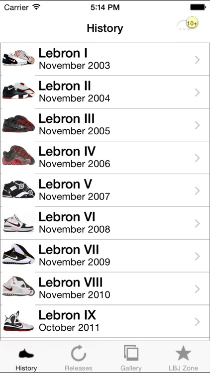 Lebron Shoe Edition - All Time Releases screenshot-0