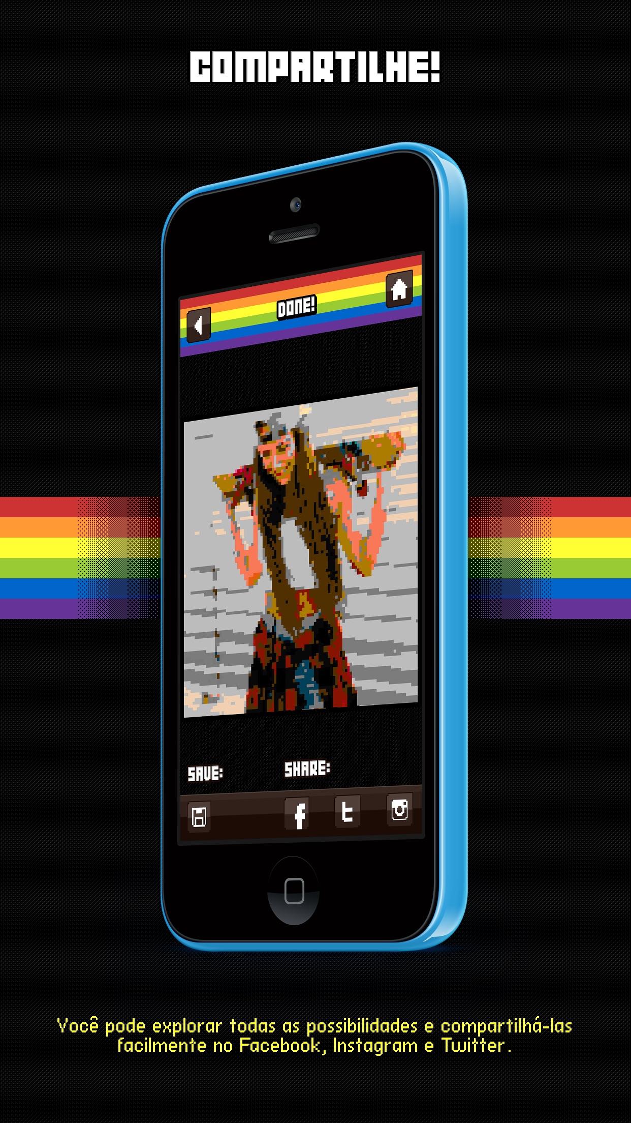 Screenshot do app Bitstagram