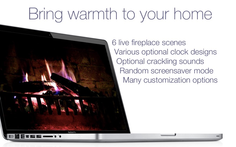 Fireplace Screensaver & Wallpaper HD with relaxing crackling fire sounds (free version) på PC