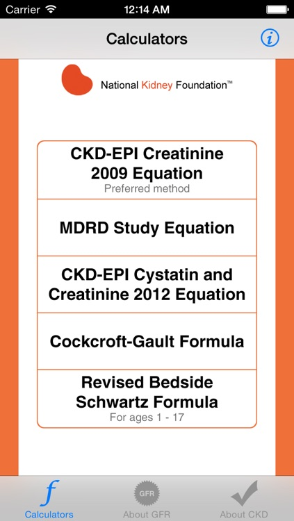 eGFR Calculators
