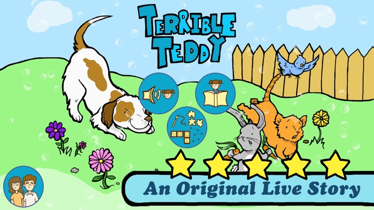 Terrible Teddy - An Original Kids Reading Book and 8 Fun Games for boys and girls by Live Story screenshot-0