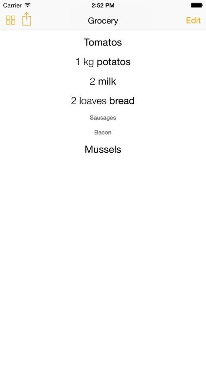 SavouryList - Grocery List for Shopping screenshot-0