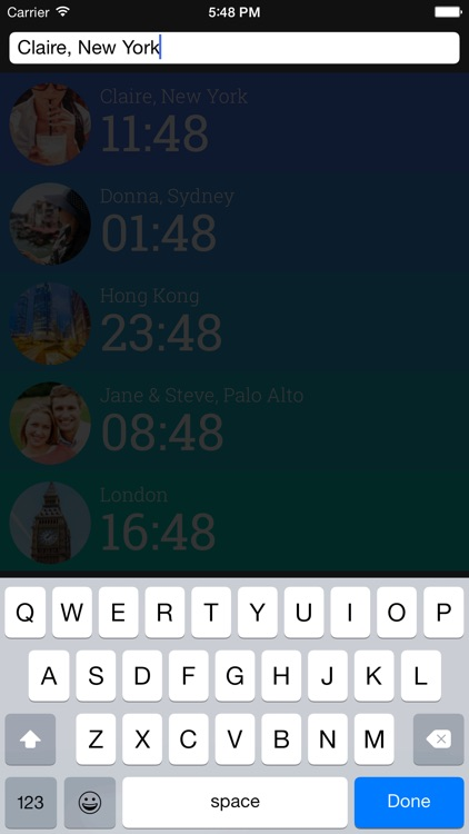 Friendly Clocks - Time Zones for Friends in Just 1 Swipe screenshot-3