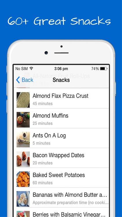 Paleo Snacks Recipes - Breakfast, Lunch and Appetizers with quick, easy and simple meals. screenshot-4