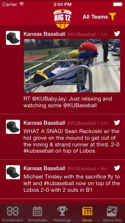 Big 12 Baseball Schedules, Scores, & Radio screenshot-4