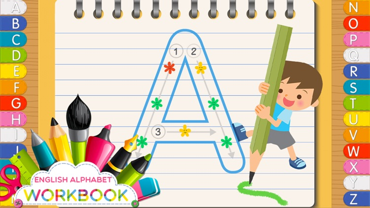 ABC First Workbook Tracing Letters Reading A to Z