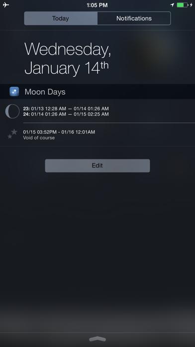 Moon Days - Lunar Calendar and Void of Course Times Screenshot
