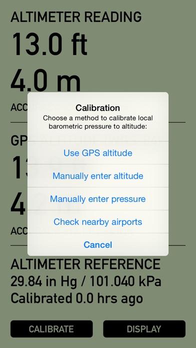 Pro Altimeter - Barometric Altimeter with Manual/GPS/METAR Calibration screenshot three