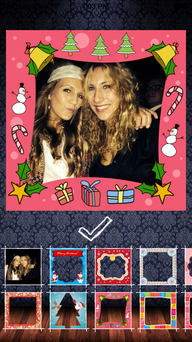 Frame My Photo: メリークリスマスのためのデジタルフォトフレームやグリーティングカードのおすすめ画像4